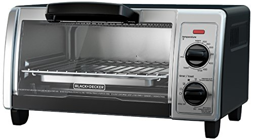 BLACK+DECKER 4-Slice Toaster Oven with Easy Controls