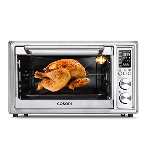 12-in-1 Air Fryer Toaster Oven Combo Convection Roaster with Rotisserie Dehydrator