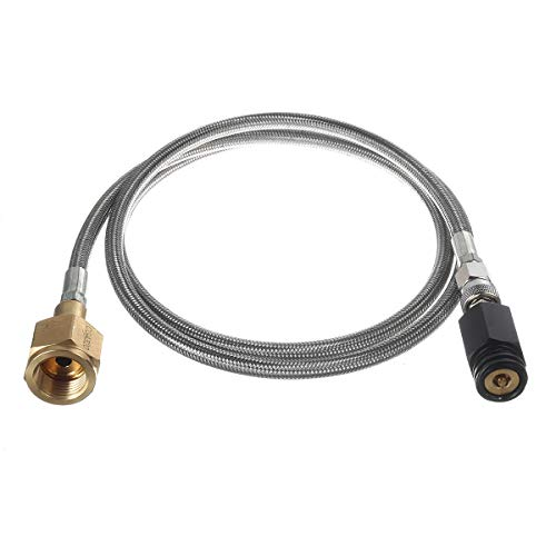 60 Inch External Hose Soda Stream Soda Club To External CGA320 CO2 Tank Direct Adapter Hose Kit TR21-4 Soda Maker Accessories Compatible with SodaStream
