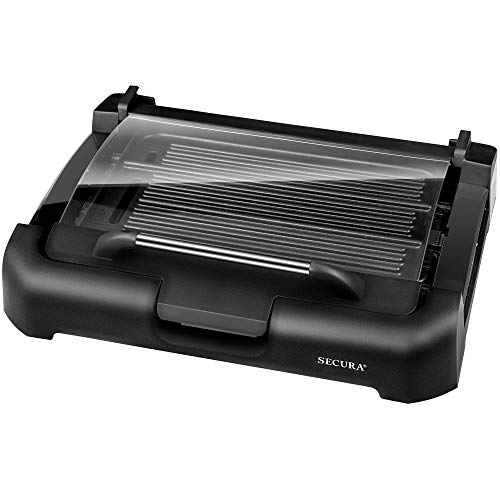 Electric Griddle with Reversible 2 in 1 Cast Iron Plate