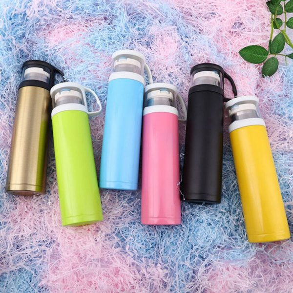 Stainless Steel Vacuum Flask Transparent Cover Large