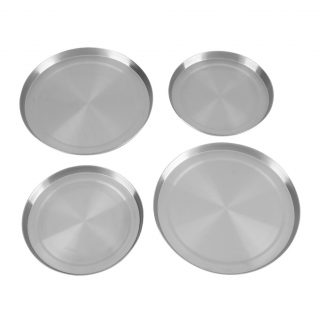 4Pcs/Set Stainless Steel Kitchen Stove Top Burner Covers