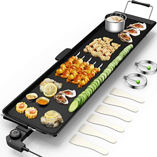 Electric Teppanyaki Table Top Grill Griddle BBQ Barbecue Nonstick