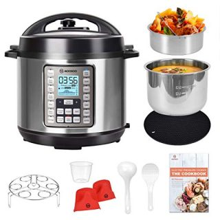 MOOSOO 9-in-1 Electric Pressure Cooker with LCD