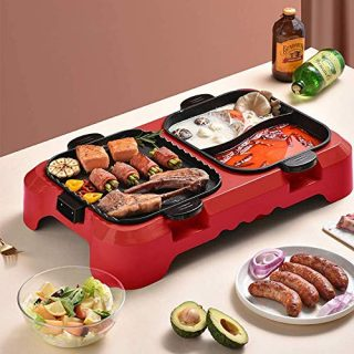 Electric Smokeless Grill and Hot Pot Non-Stick