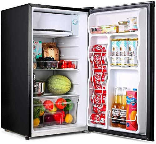 Refrigerator, 3.2 Cu Ft Mini Fridge with Freezer