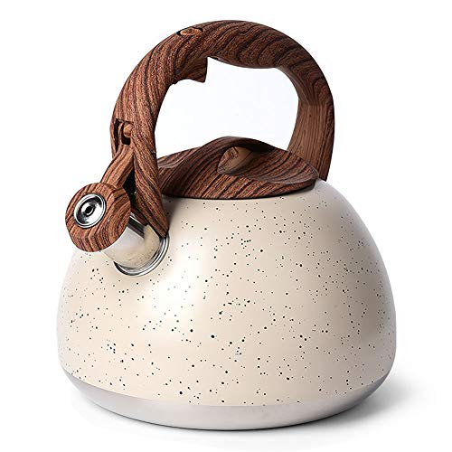 Induction Natural Stone Marble Teapot with Anti-Hot Wooden Handle