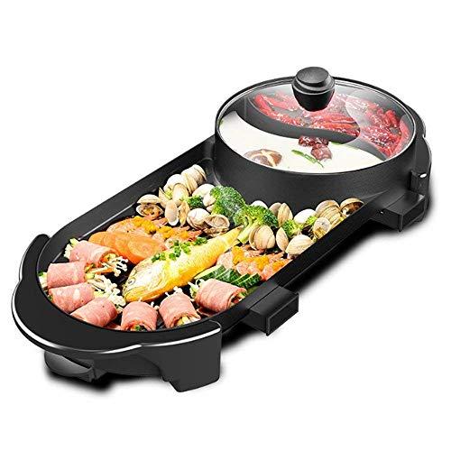 Hot Pot Indoor Korean BBQ Grill Shabu Shabu Pot with Divider