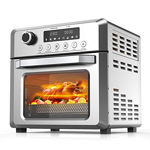 Toaster Oven Air Fryer Oven Broil, Toast, Dehydrate, Pizza