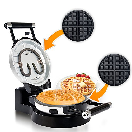 Automatic 360 Rotating Non-Stick Belgian Waffle Maker