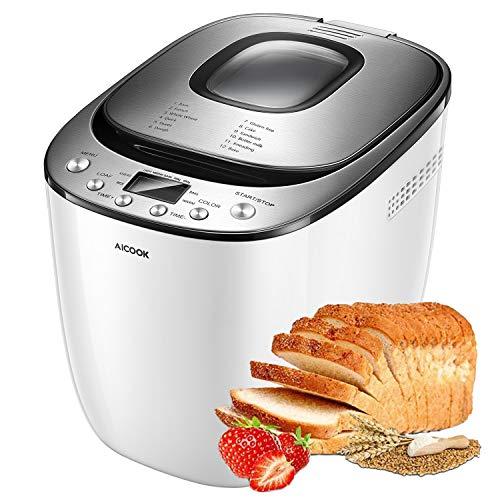 AICOOK 2LB Automatic Bread Machine With Gluten Free Setting