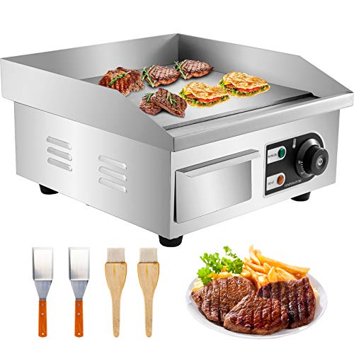 Electric Countertop Flat Top Griddle 1500W