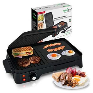 2-in-1 Panini Press Grill Gourmet Sandwich Maker Griddle