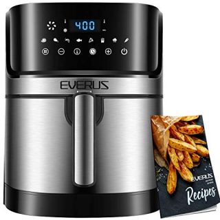 Air Fryer Oilless Cooker with 8 Presets, Nonstick Square Basket