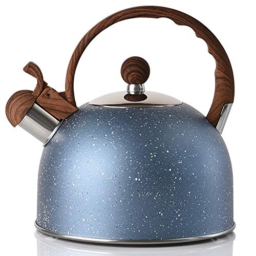 Marble Finish Tea kettle, Stainless Steel Whistling Teapo