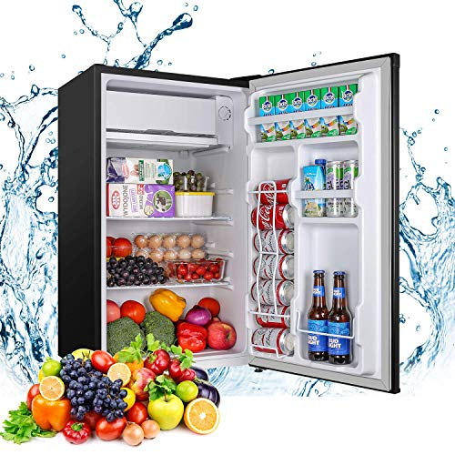 Mini Fridge with Freezer Compact Refrigerator