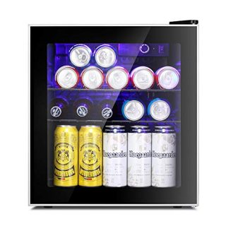 60 Can Beverage Refrigerator Glass Door for Beer Soda or Wine