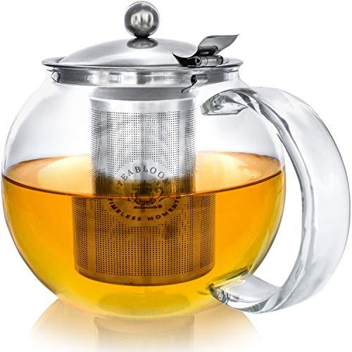 TEABLOOM Stovetop Safe + Lead-Free Glass Teapot Kettle