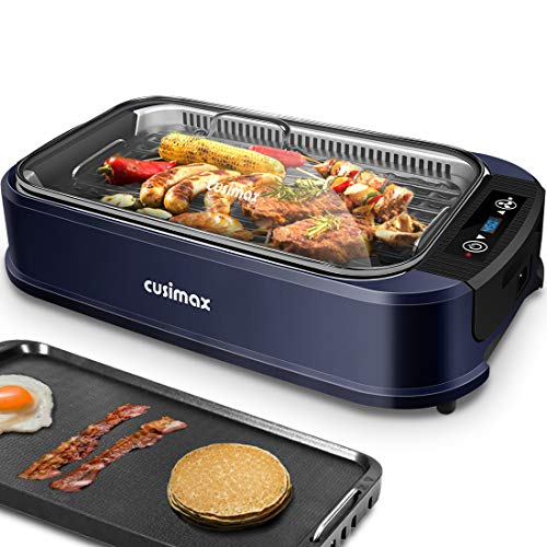 Indoor Grill Electric Grill Griddle CUSIMAX Smokeless Grill