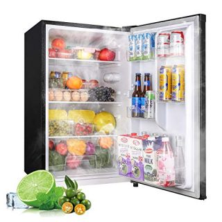 Mini Fridge with LED Light Small Refrigerator