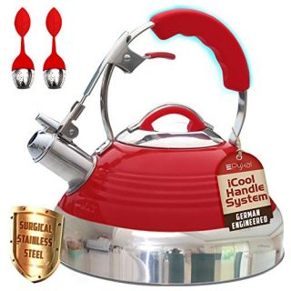 Whistling Tea Kettle Red Hotness with iCool-Handle Technology