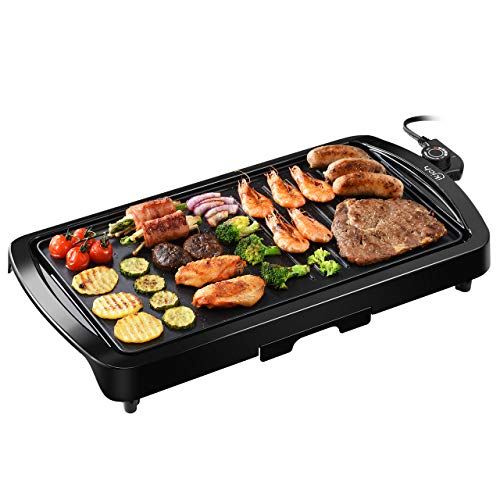 IKICH Electric Grill Indoor 2-in-1 Pancake Griddle