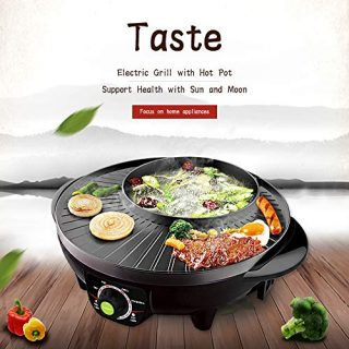 LIVEN Electric Shabu Shabu Hot Pot with BBQ