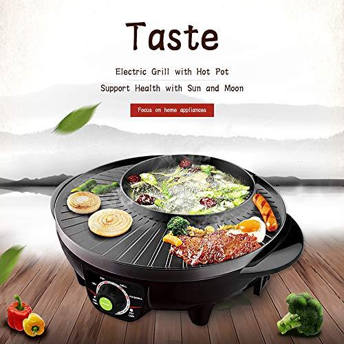 LIVEN Electric Shabu Shabu Hot Pot with BBQ