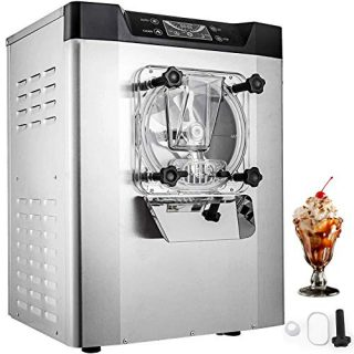 VEVOR Commercial Ice Cream Machine 1400W 20L/5.3Gal Per Hour Hard Serve Yogurt Maker with LED Display Perfect for Restaurants Snack Bar supermarkets, Sliver