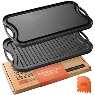 Cast Iron Grill Pan For Stovetop with Easy Grip Handles