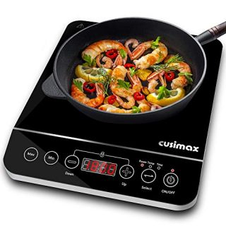 Cooktop, CUSIMAX 1800W Portable Induction Burner with Timer
