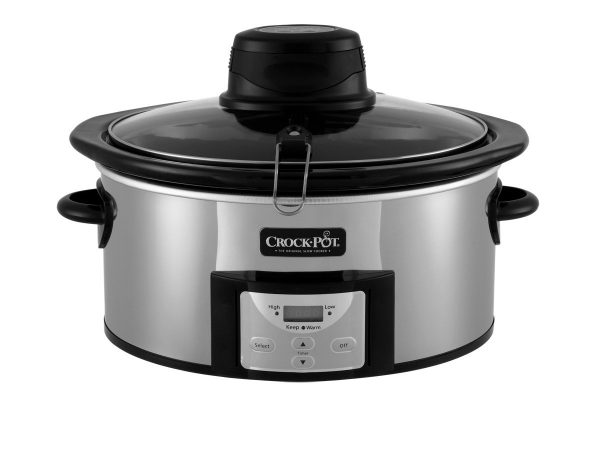 Crock-pot Stainles 6.5 Quart Digital Slow Cooker with iStir Stirring System, Polished Stainless Steel, Qt