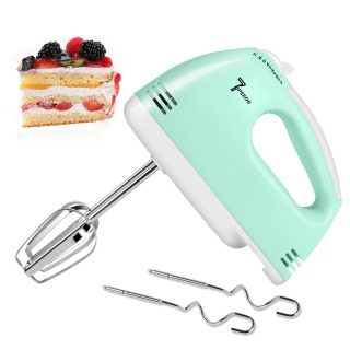 2020 Upgrade Electric Hand Mixer, Multi-Speed Handheld Mixer, Lightweight Electric Hand Mixer Stainless Steel Egg Whisk with Egg Sticks and Dough Sticks