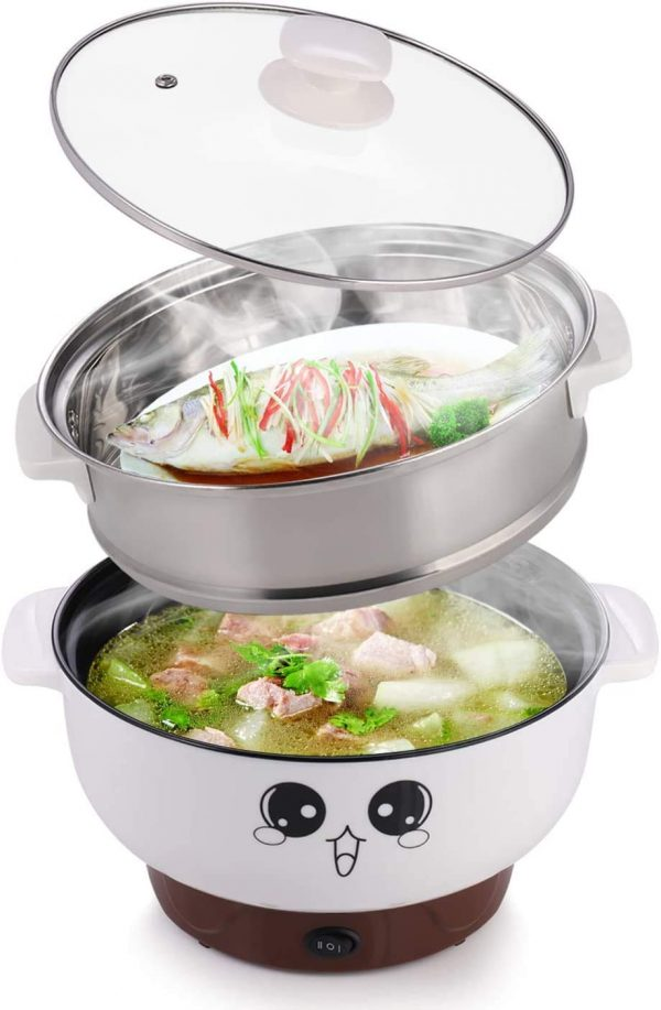 Electric Hot Pot, 4 in 1 Multifunction Electric Cooker Skillet