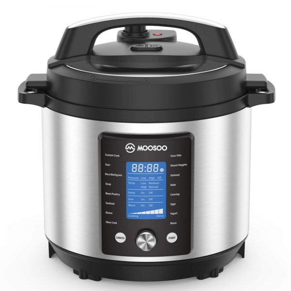 15-in-1 Electric Pressure Cooker and Canner, Instant Digital Pressure Pot with Time Delay Function, 6 Quart, Stain-Resistant Slow Cooker, Steamer, Saute, Yogurt Maker, Egg Cook, Sterilizer, Warmer, Rice Cooker with ETL Certified, Deluxe Accessories and Re