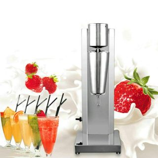 Electric Milkshake Maker,110V Drink Mixer Machine Smoothie Malt Blenders 180W Stainless steel Milk Shaker for Strawberry Milkshake 650ml 60Hz Commercial Ice Cream Maker with English Manual USA STOCK