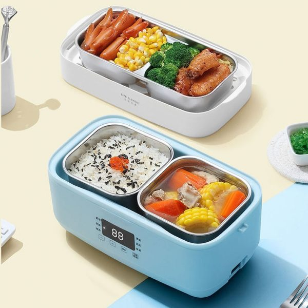 Double-layer Lunch Box Stainless Steel Liner Rice Cooker