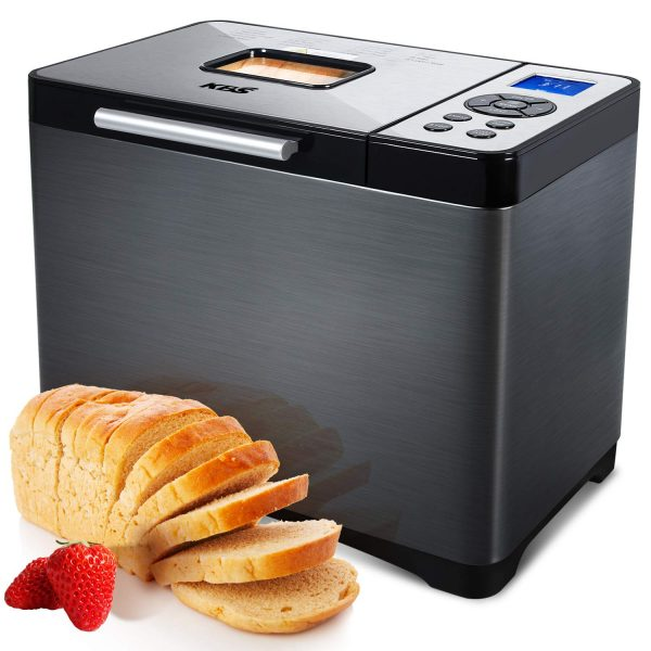 Automatic Bread Machine, 2LB Stainless Steel Bread Maker