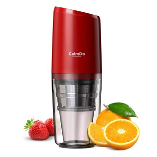Masticating Juicer, CalmDo Portable Slow Juicer Machine, PJ801 Juicer Extractor with Reverse Function, USB Rechargeable