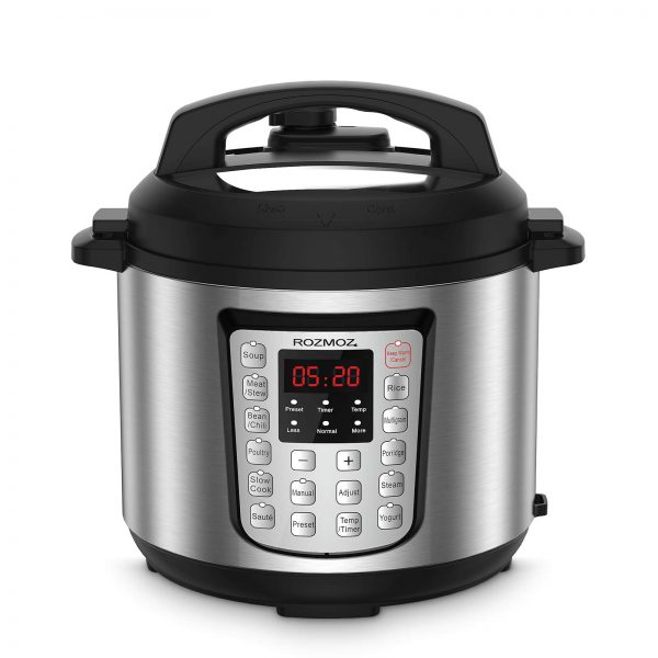 12-in-1 Electric Pressure Cooker Instant Stainless Steel Pot, Slow Cooker, Steamer, Saute, Yogurt Maker, Egg Cook, Sterilizer, Warmer, Rice Cooker with Deluxe Accessory kits,6 Quart
