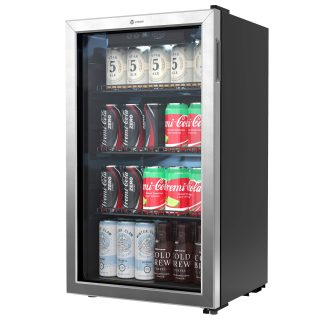 Refrigerator and Cooler - 100 to 120 Can Mini Fridge with Glass Doo