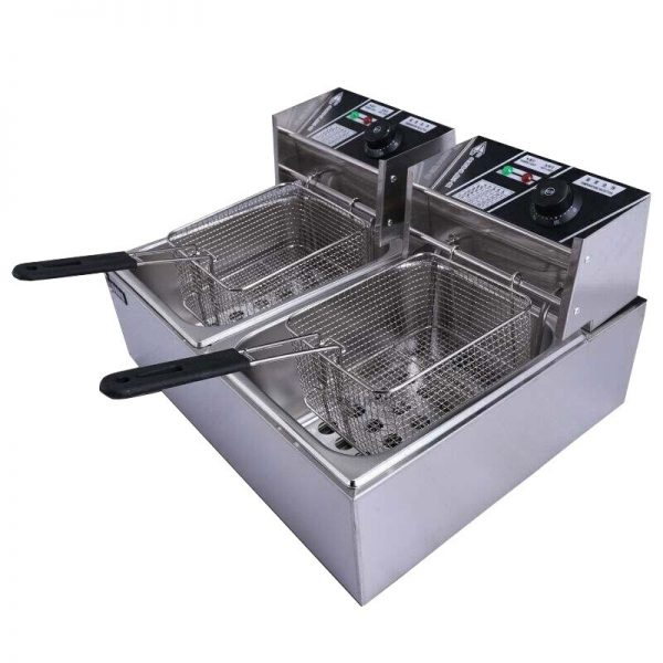 Electric Deep Frye 12L Countertop Stainless Steel Large