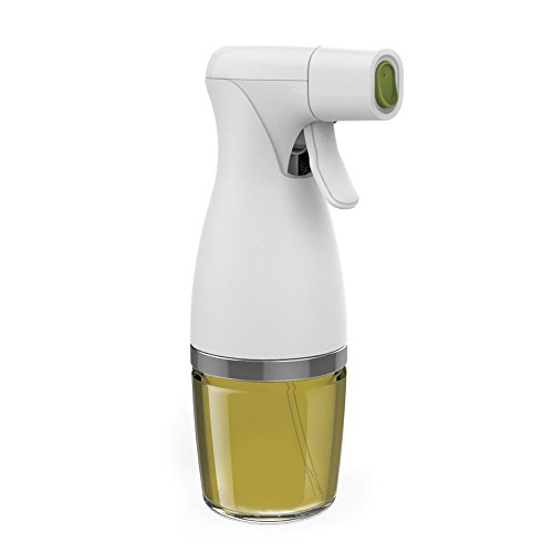 Prepara for Kitchen and Grill, Simply Mist, Glass Healthy Eating Trigger Oil Sprayer, one size, White
