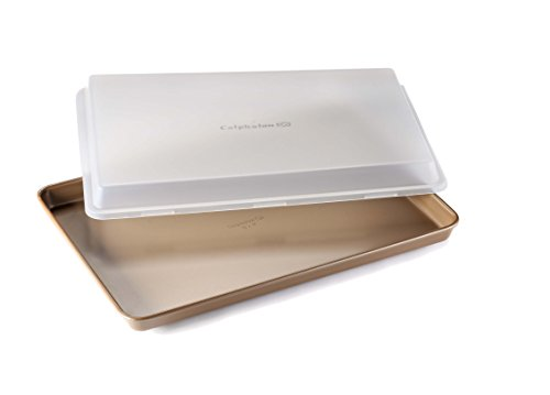 """Calphalon Nonstick Bakeware Baking Sheet with Cover, 12"""" by 17"""", Toffee"""