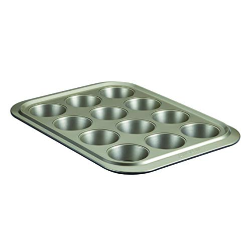 Anolon Allure Nonstick 12-Cup Muffin Tin / Nonstick 12-Cup Cupcake Tin - 12 Cup, Onyx/Pewter