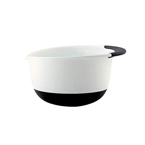 OXO Good Grips 5-Quart Mixing Bowl, 5 Quart,White/Black,5 qt