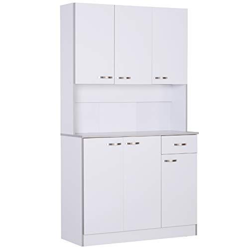 "HOMCOM 71"" Modern Freestanding Kitchen Buffet Hutch with Server and Storage"