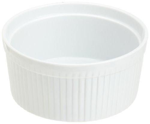 Kitchen Supply White Porcelain Soufflé 1.5-quart
