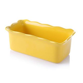Sweese 519.119 Porcelain loaf pan for Baking, Non-Stick Bread Pan Cake Pan, Perfect for Bread and Meat, 9 x 5 inches, Yellow