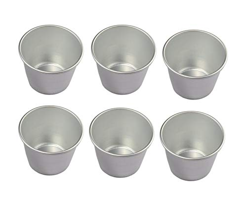 UgyDuky Set of 6 Nonstick Individual Tumblers Popovers| Chocolate Molten Pans| Pudding Cups| Raspberry Souffle Pot| Darioles Ramekins Brownies Mold - Size 3 Inches